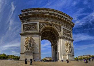 обоя arc de triomphe,  paris, города, париж , франция, арка