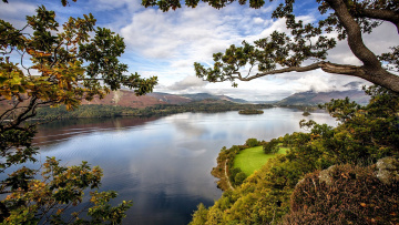 обоя природа, реки, озера, деревья, река, горы