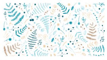 обоя векторная графика, природа , nature, nathalie, ouederni, листики, designed, by, веточки