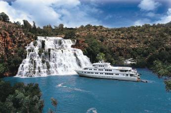 Картинка корабли другое водопад вертолёт