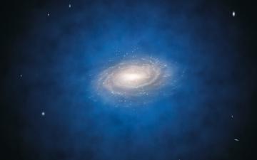 Картинка космос галактики туманности темная материя галактика млечный путь гало