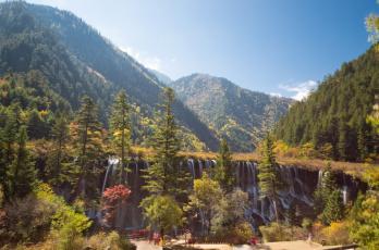 Картинка природа водопады китай