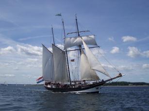 Картинка корабли парусники oosterschelde шхуна