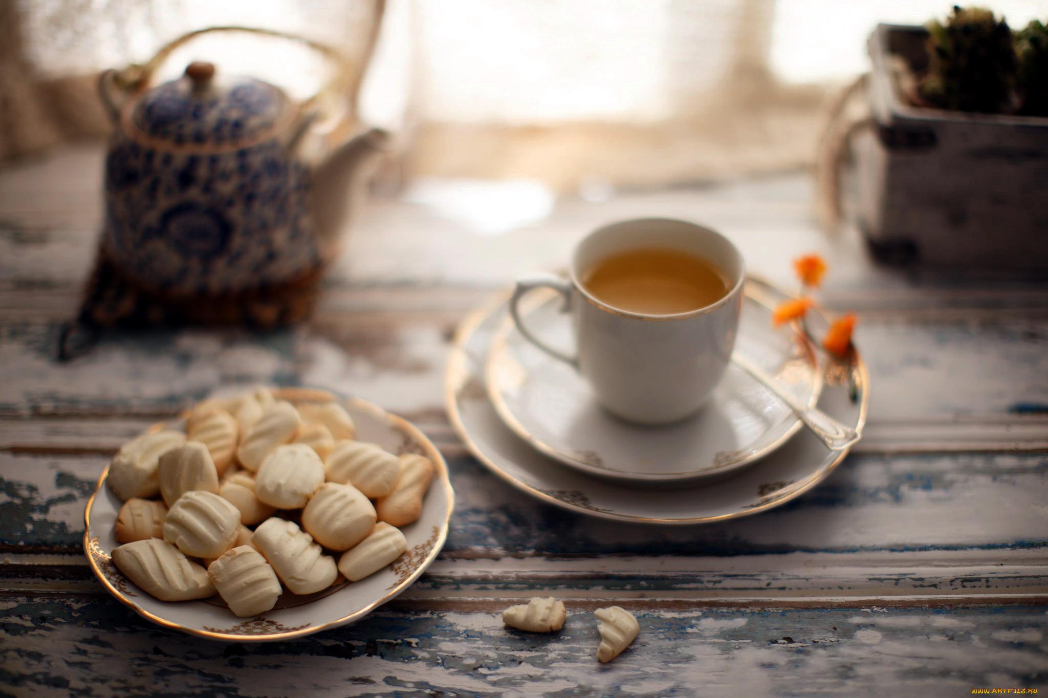 Юбилей круглой, чай с печеньками открытки