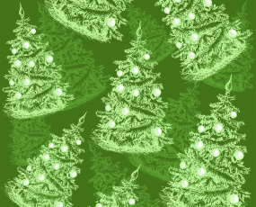 обоя праздничные, векторная графика , новый год, фон, елки