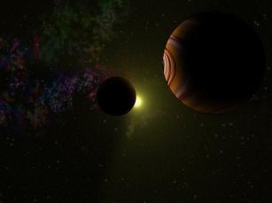 Картинка космос арт планеты звезды