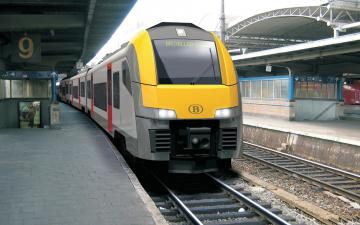 Картинка техника поезда поезд рельсы перрон