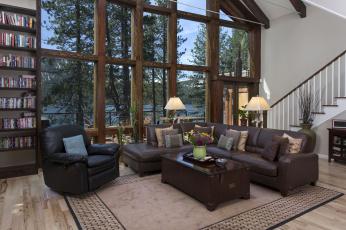 Картинка интерьер гостиная кресла окна