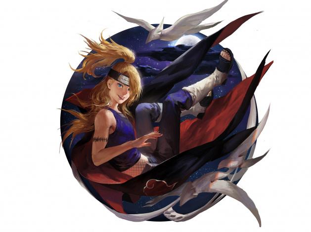Обои картинки фото аниме, naruto, дейдара