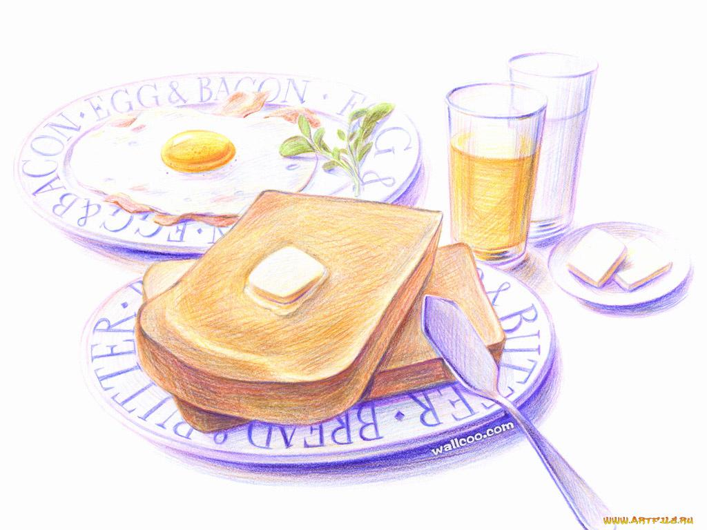 крепким, рисунок на тему еда технология позволит
