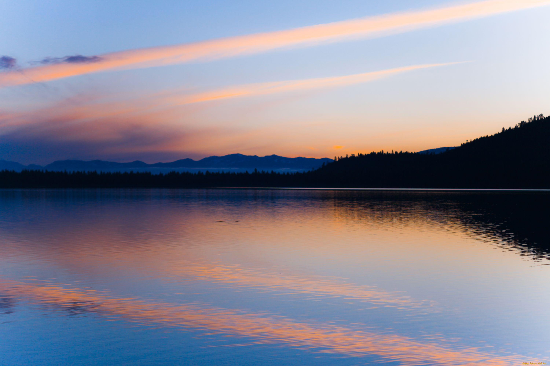 природа озеро отражение небо облака  № 1248383 загрузить