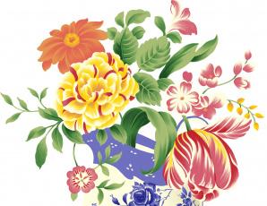 Картинка векторная+графика цветы+ flowers цветы фон