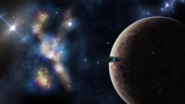 Картинка космос арт звезды планеты галактика вселенная