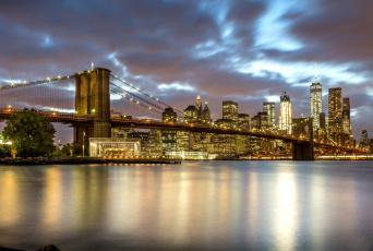 обоя new york city, города, нью-йорк , сша, небоскребы, панорама