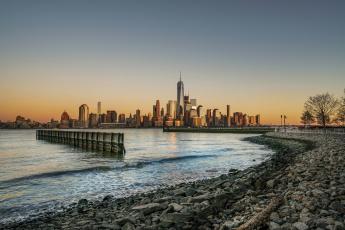 обоя new york, города, нью-йорк , сша, панорама, небоскребы
