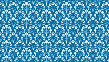 обоя векторная графика, цветы , flowers, орнамент, узор, голубой