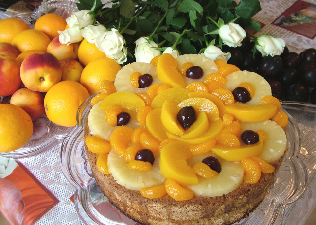 Фото мандарины и торт