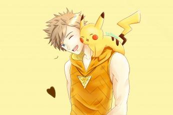 обоя аниме, pokemon, парень