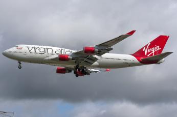 обоя boeing 747-400, авиация, пассажирские самолёты, авиалайнер