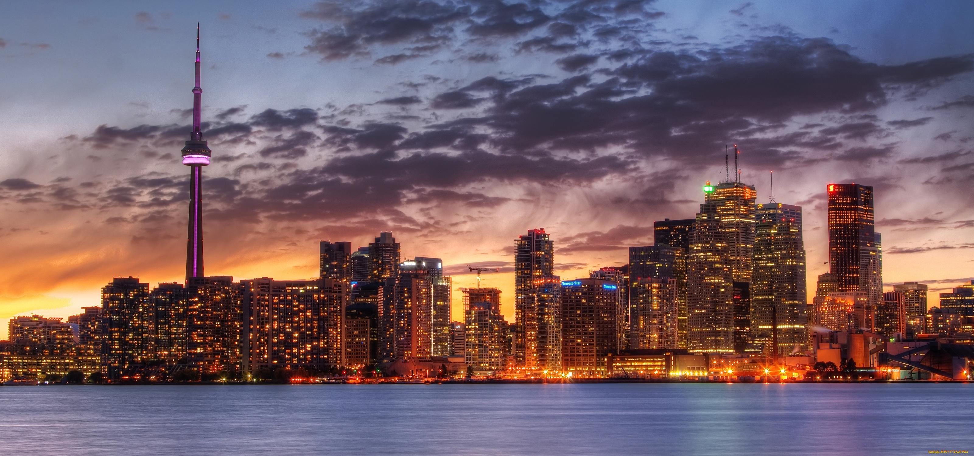 небоскребы закат город skyscrapers sunset the city  № 683722 загрузить