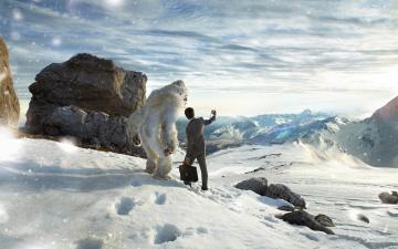 Картинка юмор приколы снег ети горы