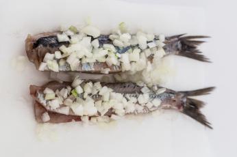 Картинка еда рыба +морепродукты +суши +роллы селедка лук