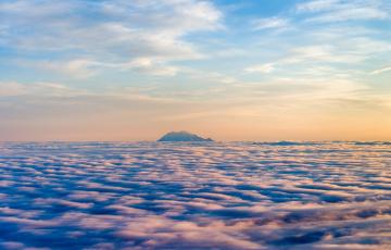 Картинка природа облака горы