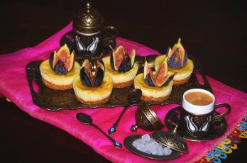 Картинка еда пирожные +кексы +печенье инжир пирожное кофе