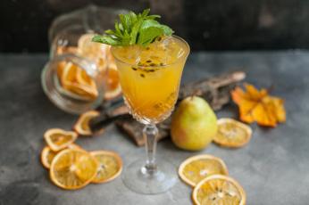 обоя еда, напитки,  сок, напиток, мята, цитрус, сок, апельсин