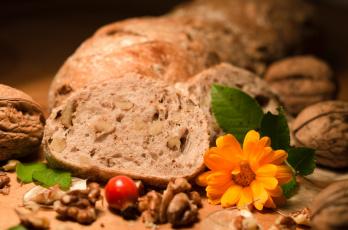 обоя еда, хлеб,  выпечка, орехи, шиповник