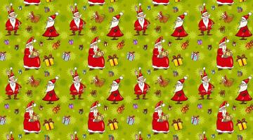 обоя праздничные, векторная графика , новый год, арт, дед, мороз, юмор, веселье, новый, год, настроение, шарж, доброта, праздник, подарки