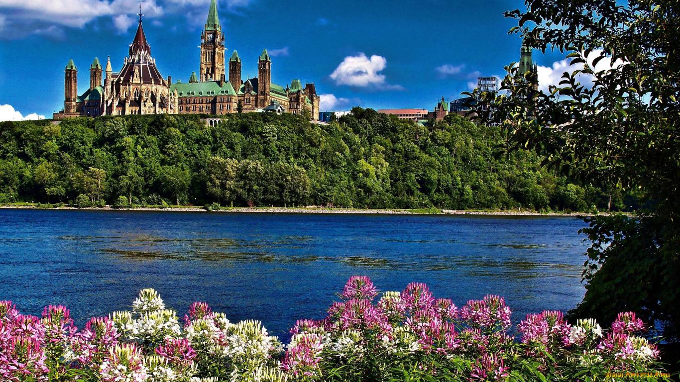Парламентский холм река Оттава без смс