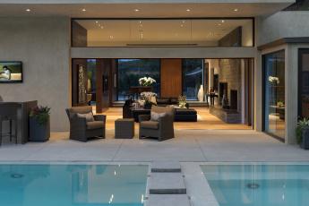 Картинка интерьер бассейны открытые площадки бассейн столик диван кресла pool home nterior картины