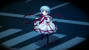Картинка аниме rewrite девушка взгляд фон