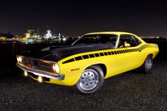 обоя 1970-plymouth-aar-cuda, автомобили, plymouth