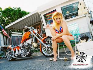 обоя мотоциклы, мото, девушкой