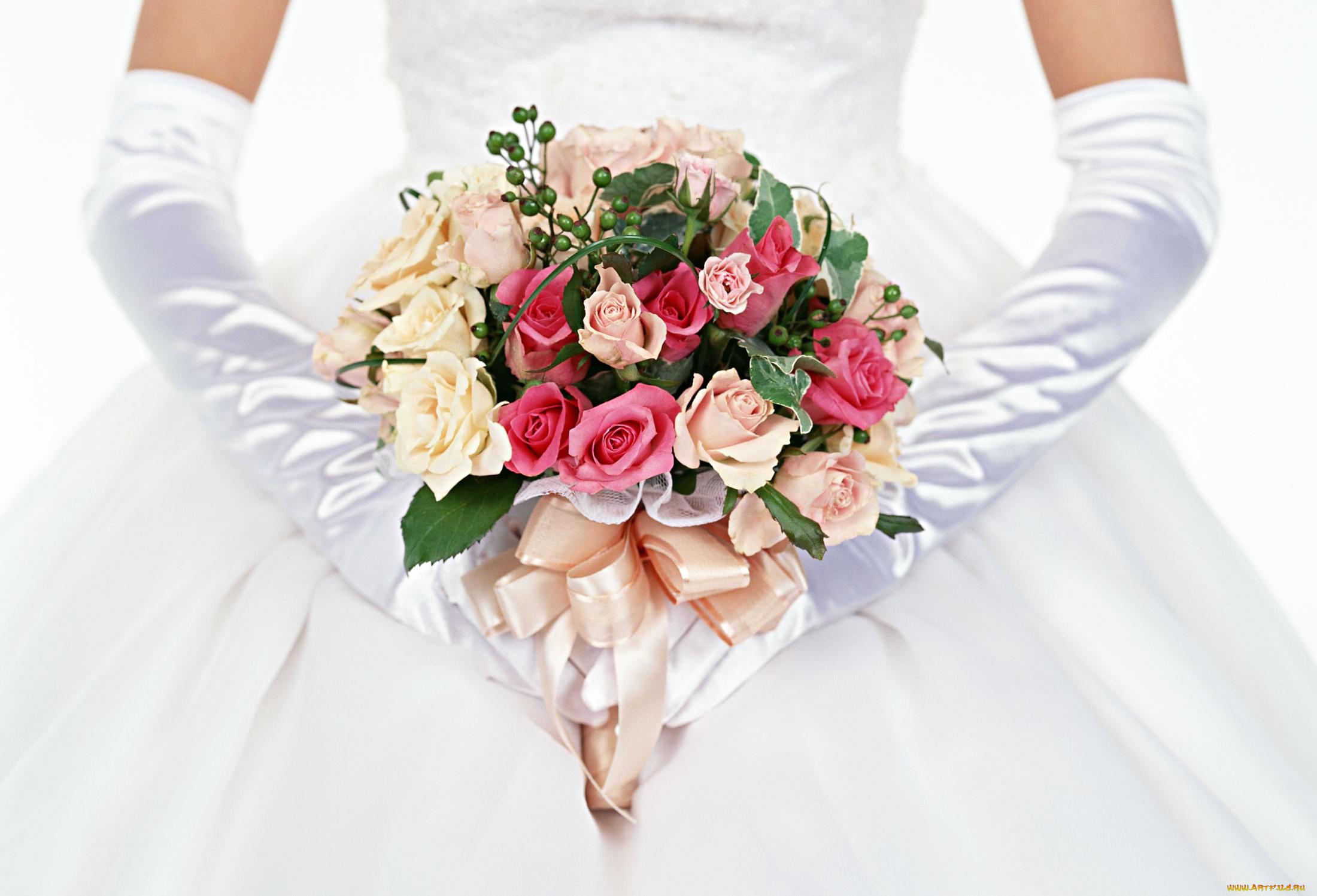 фон для букета невесты