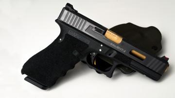 обоя оружие, пистолеты, salient, arms, international, пистолет, кобура, glock, 41