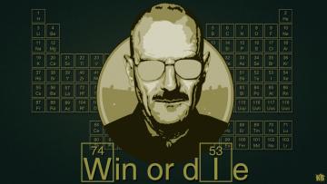 обоя рисованное, кино, heisenberg, breaking, bad, таблица, менделеева, win, or, die, art