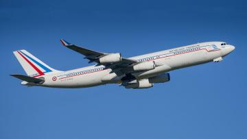 обоя a340-212, авиация, пассажирские самолёты, авиалайнер