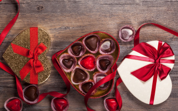 обоя праздничные, день святого валентина,  сердечки,  любовь, gift, romantic, sweet, valentine`s, day, love, chocolate, heart, конфеты