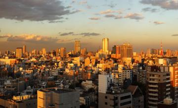 Картинка города токио Япония панорама