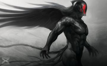 Картинка фэнтези демоны демон чернокожий крылья