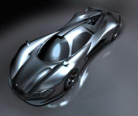 обоя mercedes-benz sl gtr concept, автомобили, 3д, mercedes-benz, concept, gtr, sl