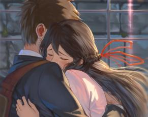 обоя аниме, kimi no na wa, miyamizu, mitsuha, tachibana, taki, kimi, no, na, wa, арт, таки, парень, девушка, твоё, имя, митсуха