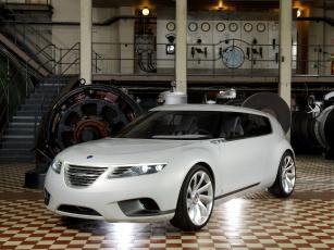 обоя saab 9-x biohybrid concept 2008, автомобили, saab, 9-x, concept, 2008, biohybrid