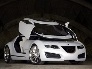 обоя saab aero-x concept 2006, автомобили, saab, aero-x, concept, 2006