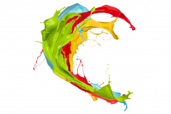 обоя 3д графика, абстракция , abstract, узор, фон, цвета, брызги