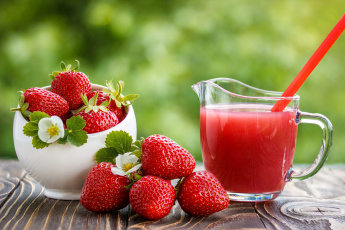 обоя еда, клубника,  земляника, ягоды, напиток