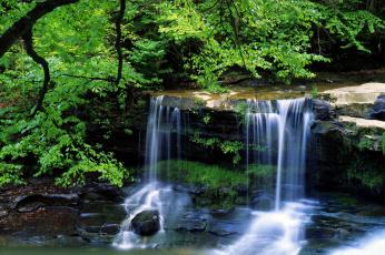 обоя природа, водопады, красота, водопад, пейзаж, лето